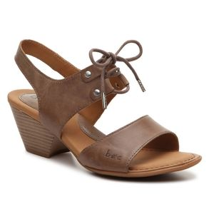 Born B.O.C. Blaire Brown Leather Sandals 10